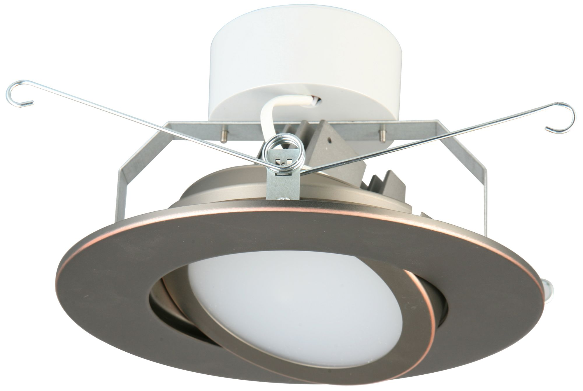 5  Lithonia 10.8 Watt Gimbal LED Retrofit Trim in Bronze  sc 1 st  L&s Plus & Sloped Ceiling Trim Recessed Lighting   Lamps Plus azcodes.com