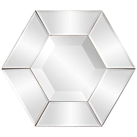 "Howard Elliott Nexus 12"" x 12"" Hexagonal Wall Mirror"