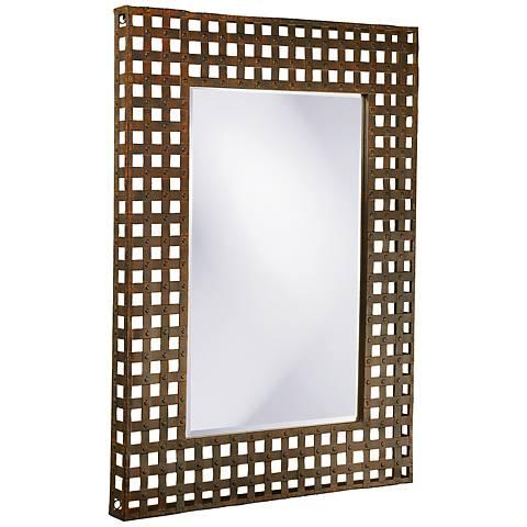 "Howard Elliott Patrick 37"" x 46"" Metal Wall Mirror"