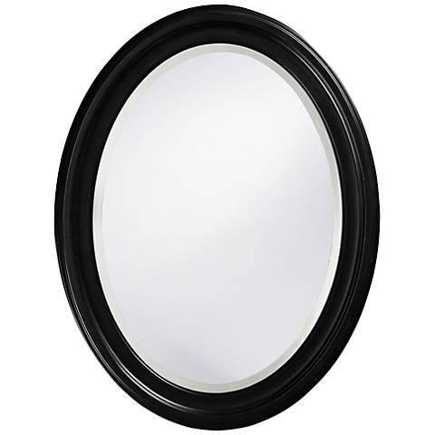 "Howard Elliott George 25"" x 33"" Oval Black Mirror"
