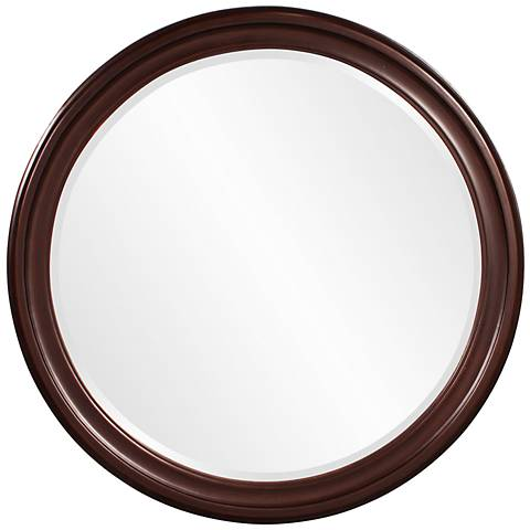 "Howard Elliott George Brown 36"" Round Wall Mirror"