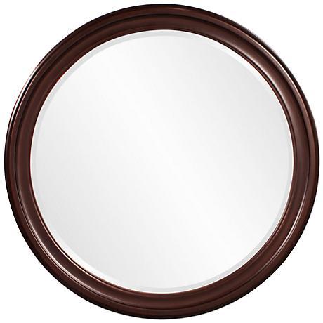 """Howard Elliott George Brown 36"""" Round Wall Mirror"""
