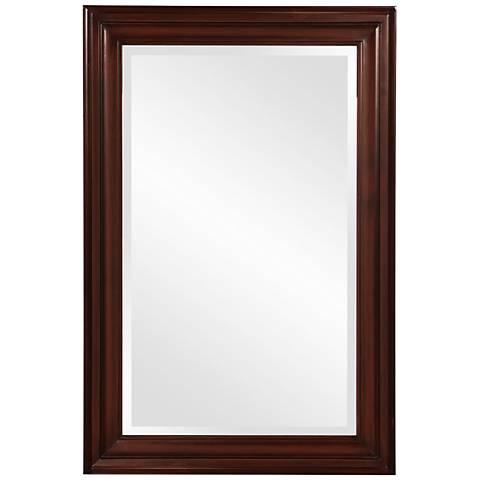 """Howard Elliott George 24"""" x 36"""" Brown Wall Mirror"""
