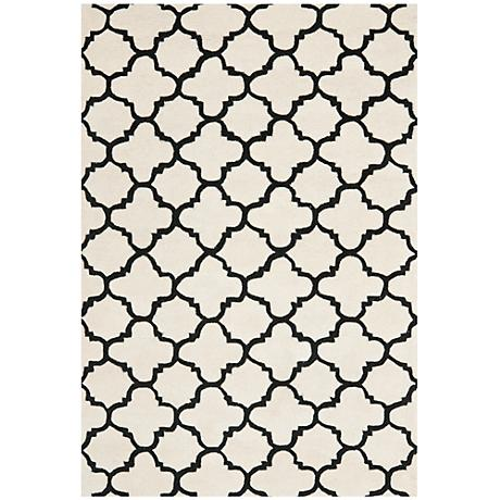 Safavieh Chatham CHT717A Ivory/Black Wool Rug
