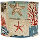 Nautical Patchwork Lamp Shade 16x16x13 (Spider)