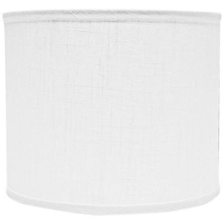 White Linen Drum Lamp Shade 12x12x10 (Spider)