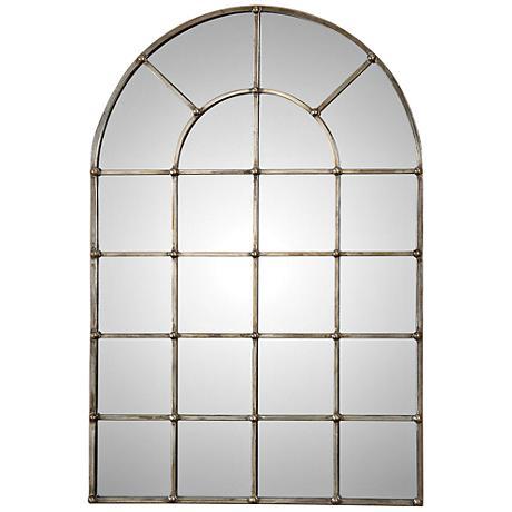 "Uttermost Barwell Silver 29 1/2"" x 44 1/4"" Arch Mirror"
