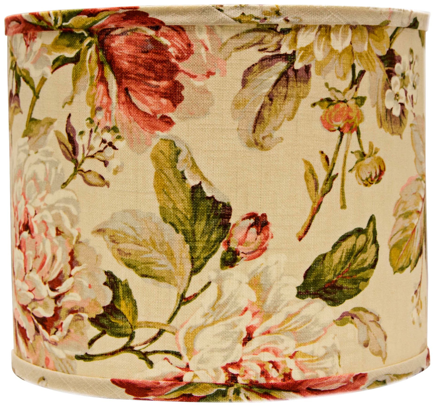 Large Rose Floral Drum Lamp Shade 14x14x11 (Spider)