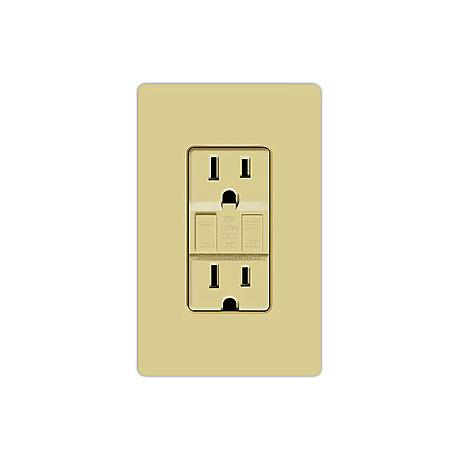 Lutron Claro Ivory GFCI Receptacle Faceplate