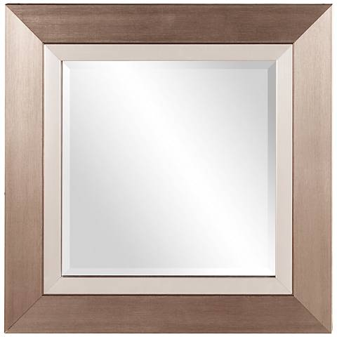 "Howard Elliott Chicago Brushed Silver 18"" Square Mirror"