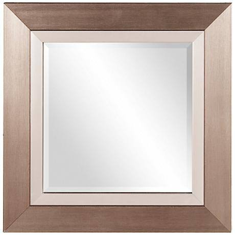 "Howard Elliott Chicago Brushed Silver 18"" Square Mirror"