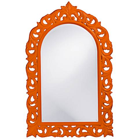 "Howard Elliott Orleans 30"" X 47"" Orange Wall Mirror"