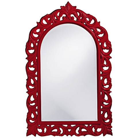 "Howard Elliott Orleans 30"" X 47"" Red Wall Mirror"