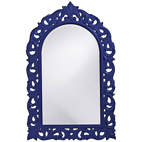 "Howard Elliott Orleans 30"" X 47"" Royal Blue Wall Mirror"