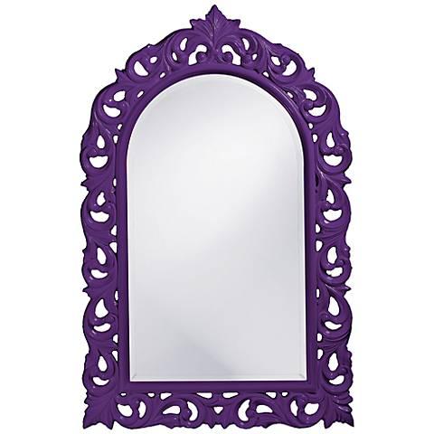"Howard Elliott Orleans 30"" X 47"" Purple Wall Mirror"
