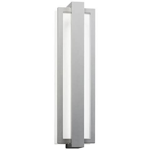 "Kichler Sedo 24 1/4"" High Platinum Outdoor LED Wall Light"