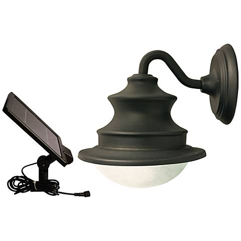 "Barn Bronze 12"" High Solar LED Outdoor Wall Light"