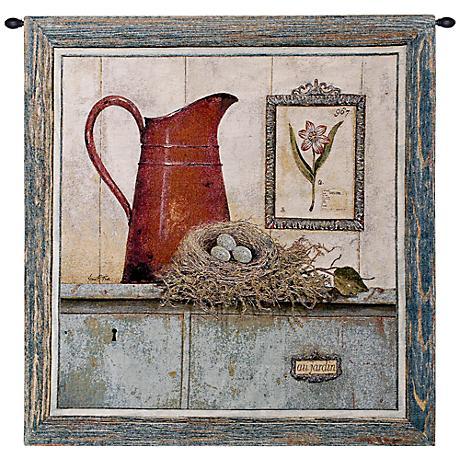 """Garden Room 36"""" High Wall Tapestry"""