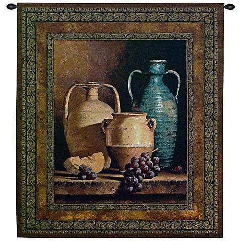 """Jars On A Ledge 53"""" High Wall Tapestry"""