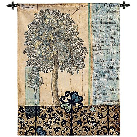 "Blue Autumn 53"" High Wall Tapestry"