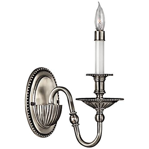 "Hinkley Cambridge 11"" High Pewter Wall Sconce"