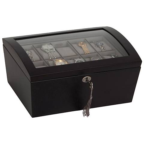 Mele & Co Royce Locking Java Wooden Watch Box