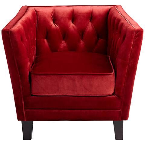 Prince Valiant Red Velvet Armchair