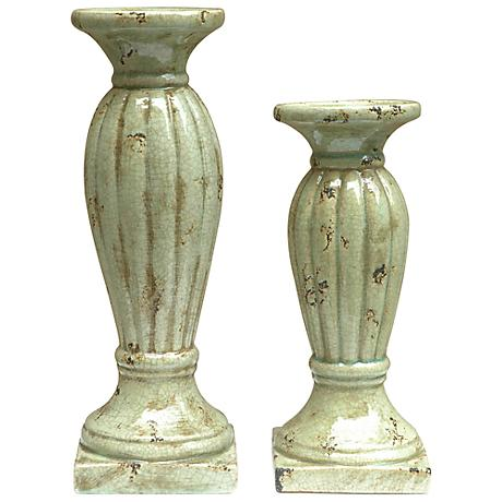 Crestview Collection Rochester Pillar Candle Holder Set of 2