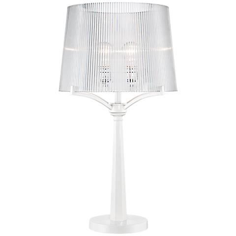 Lola Modern Acrylic Shade White Table Lamp