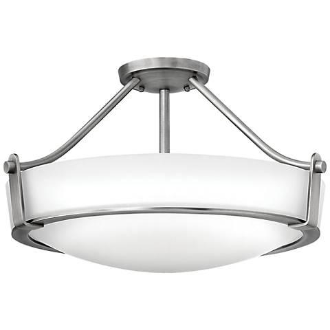 "Hinkley Hathaway 20 3/4""W Antique Nickel Ceiling Light"