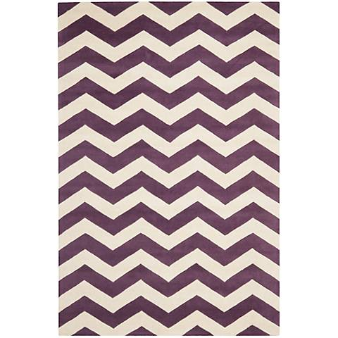 Safavieh Chatham CHT715F Purple/Ivory Chevron Rug