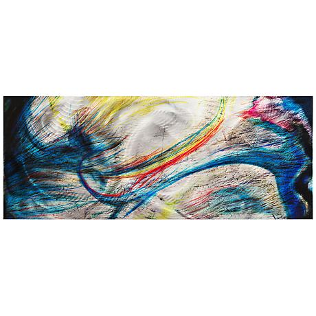 """Grace and Virtue 48"""" Wide Contemporary Metal Wall Art"""