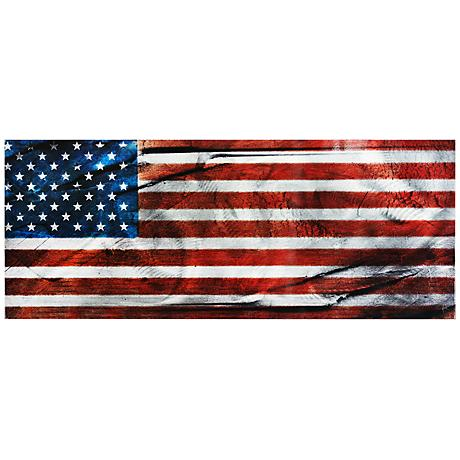 """American Glory 48"""" Wide Contemporary Metal Wall Art"""