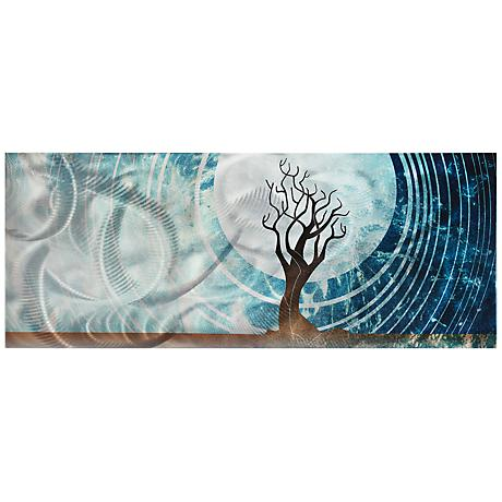 """Twilight 48"""" Wide Contemporary Metal Wall Art"""