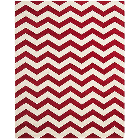 Safavieh Chatham CHT715G Red/Ivory Chevron Rug