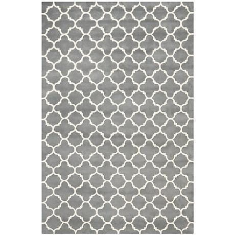 Safavieh Chatham CHT717D Dark Grey/Ivory Wool Rug