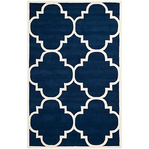 Safavieh Chatham CHT730C Dark Blue/Ivory Wool Rug