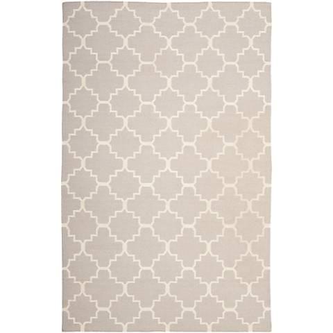 Safavieh Dhurrie DHU554G Grey/Ivory Wool Rug