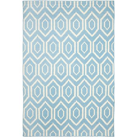 Safavieh Dhurrie DHU556B Blue/Ivory Wool Rug