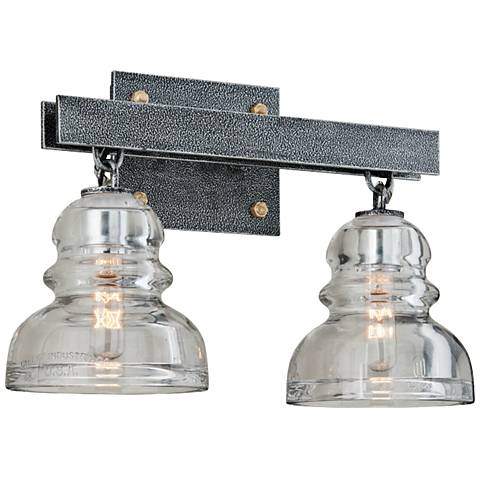 "Menlo Park 15 3/4"" Wide Old Silver Bath Light"