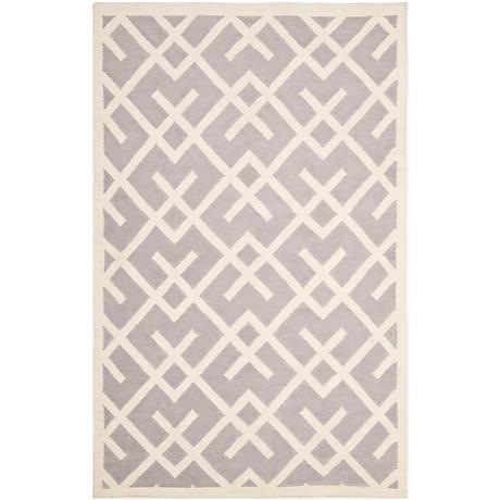 Safavieh Dhurrie DHU552G Grey/Ivory Wool Rug