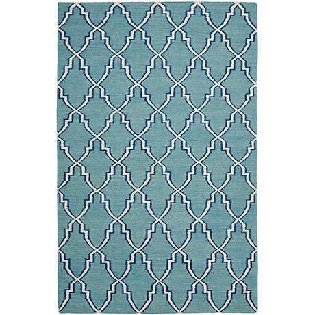 Safavieh Dhurrie DHU564B Light Blue/Ivory Wool Rug