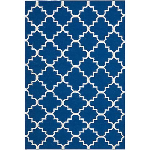 Safavieh Dhurrie DHU566A Dark Blue Wool Rug