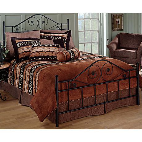 Hillsdale Harrison Textured Black Bed