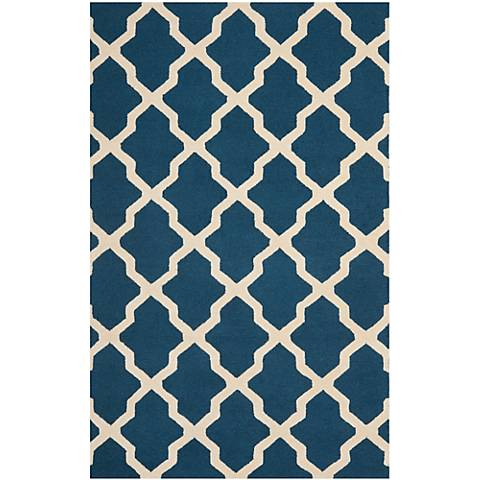 Safavieh Cambridge CAM121G Navy Blue/Ivory Wool Rug