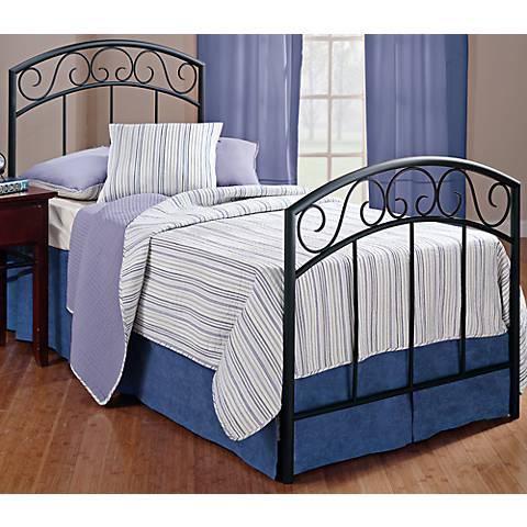 Hillsdale Wendell Textured Black Queen Bed