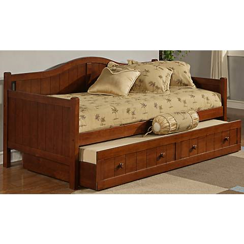 Hillsdale Staci Arched Cherry Trundle Daybed