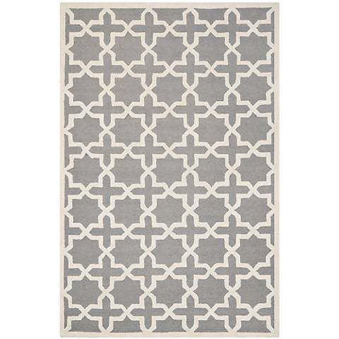 Safavieh Cambridge CAM125D Silver/Ivory Wool Rug