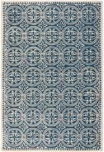 Safavieh Cambridge CAM123G 5'x8' Navy Blue/Ivory Wool Rug