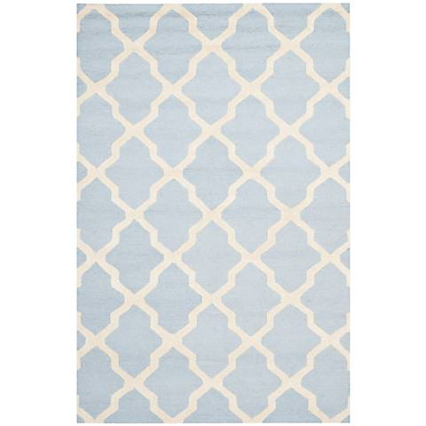 Safavieh Cambridge CAM121A Light Blue/Ivory Wool Rug